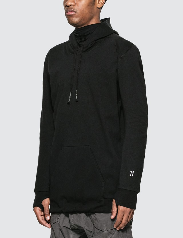 11 By Boris Bidjan Saberi 11 Logo Hoodie Black Dye Men