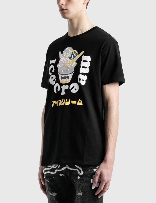 Icecream 컵 티셔츠 Black Men