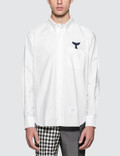 Thom Browne Straight Fit Button Down L/S Shirt Picutre