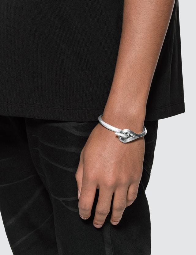 Saint Laurent Tribal Hook Cuff Metal Bracelet