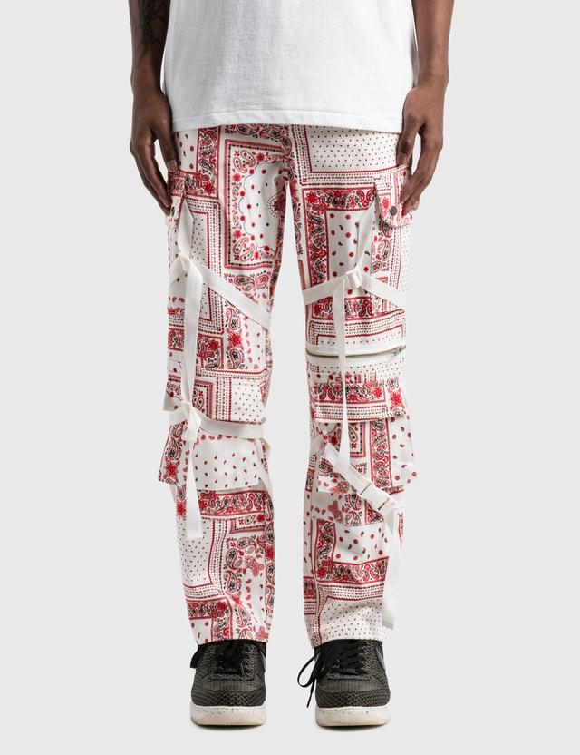 Rogic Paisley Cargo Pants Wht / Red Men