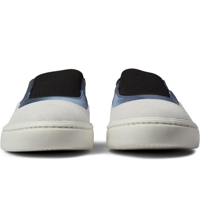 Opening Ceremony White Black Multi Mason Slip On Sneaker