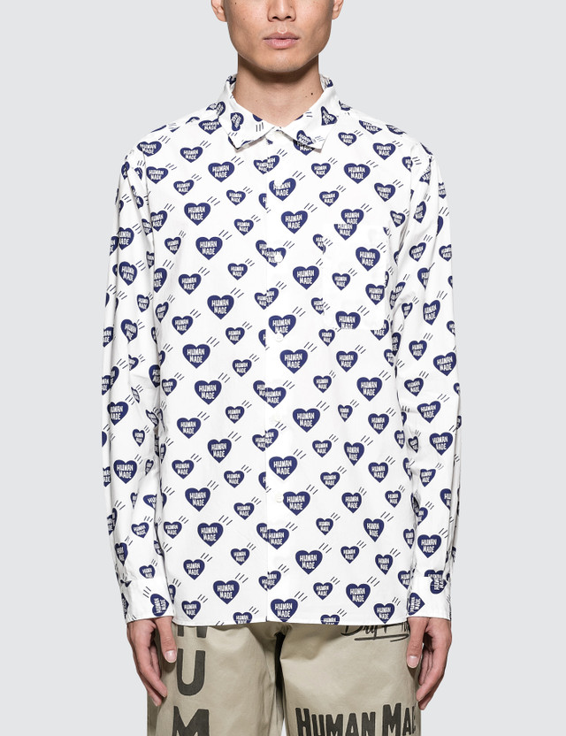 Human Made Heart Pattern Shirt