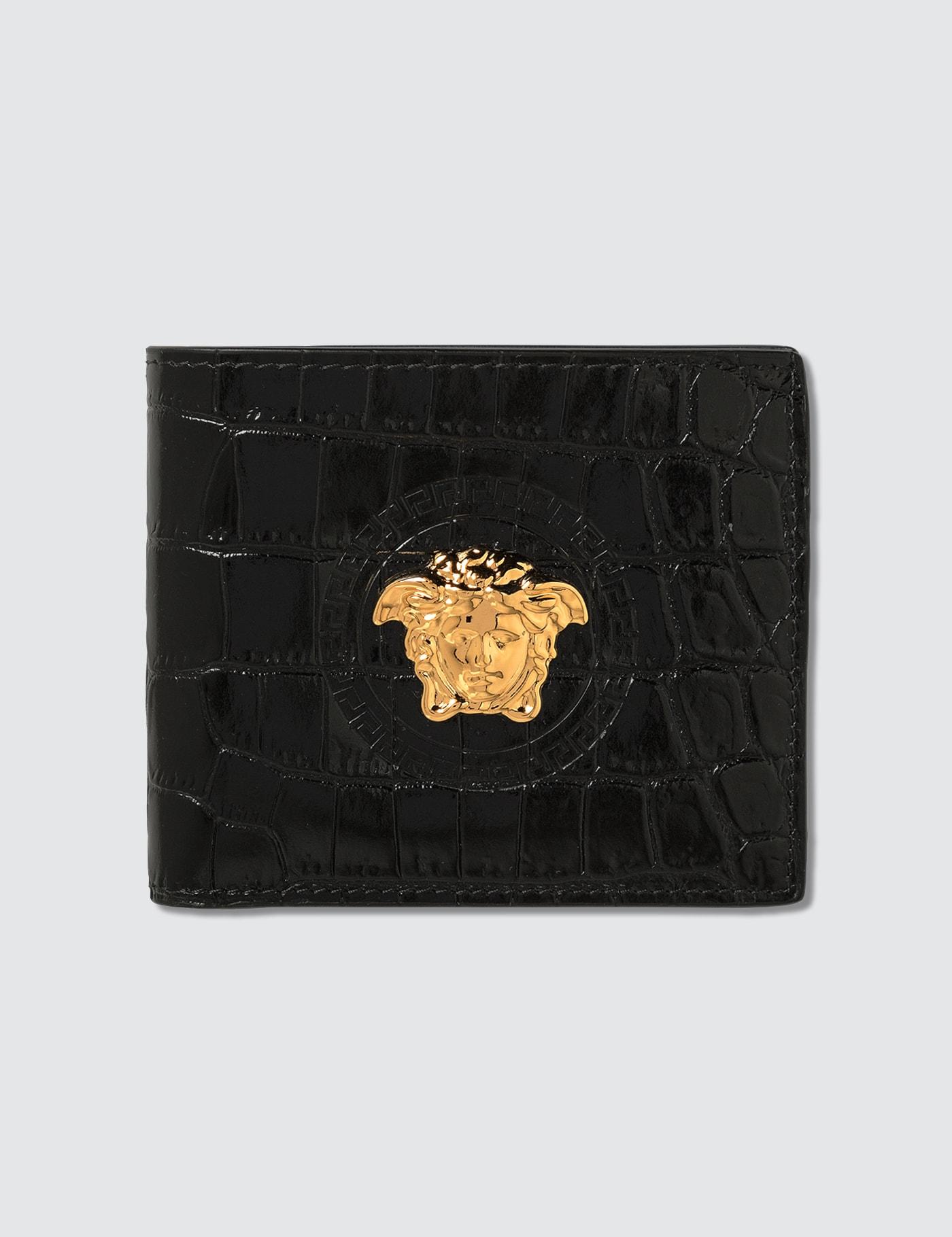 Mock Croc Print Palazzo Bifold Wallet
