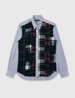Comme des Garçons HOMME Comme Des Garçons Homme Wool Checked Stripe Shirt