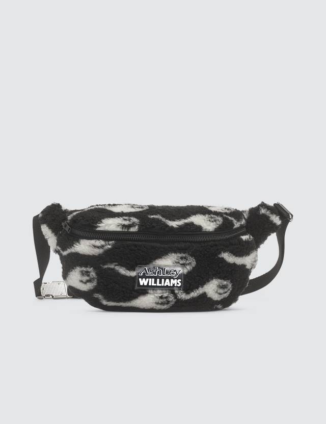 Ashley Williams Sperm Print Shearling Belt Bag
