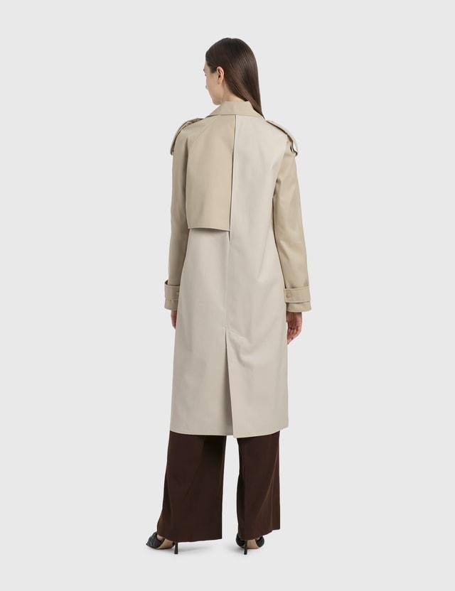 Bottega Veneta Waterproof Cotton Trench Coat Putty Women