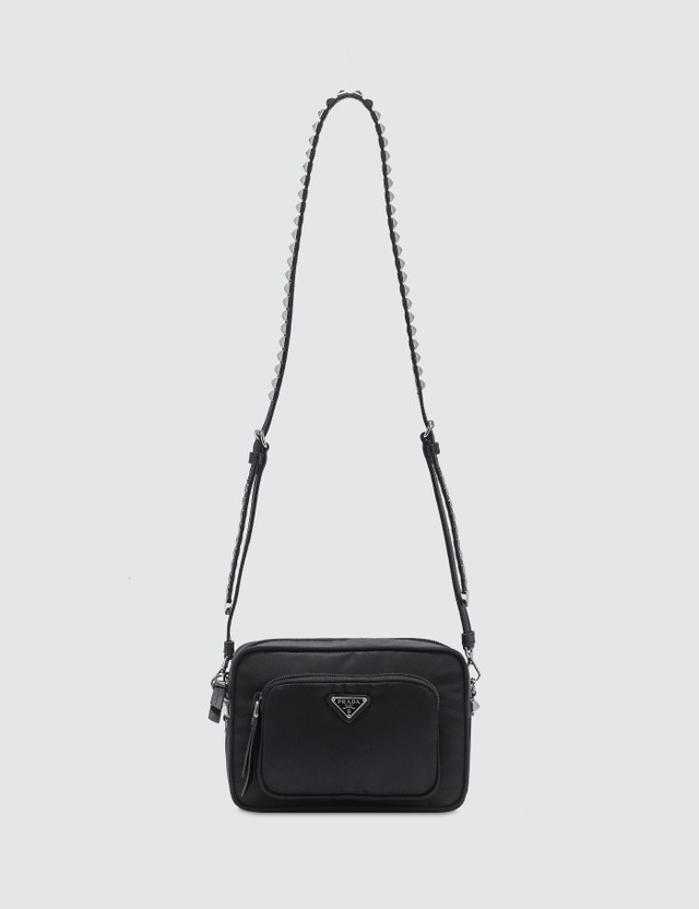 Prada Nylon Crossbody Bag With Stud