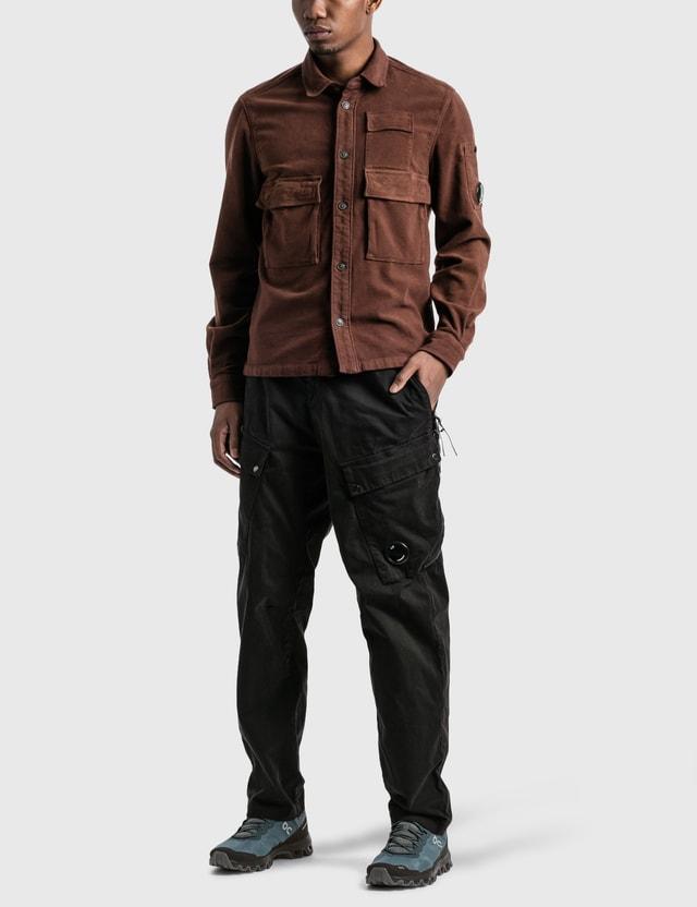 CP Company Front Pocket Lens Shirt Cinnamon Men