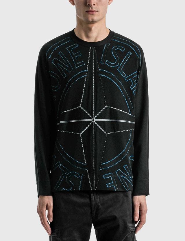 Stone Island Compass Logo Sweater Black Men