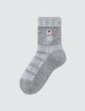 Tabio Kids Jq Wind Rabbit Skier Socks 11: Gray Kids