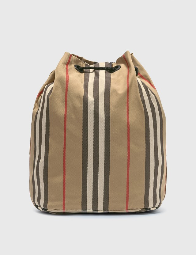 Burberry Icon Stripe ECONYL® Drawcord Pouch