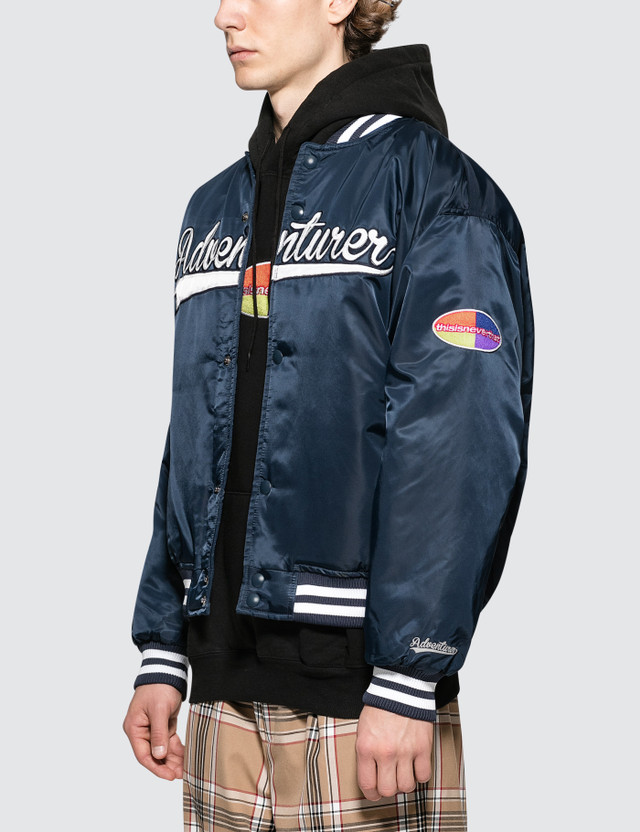 Thisisneverthat Adventurer Varsity Jacket