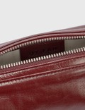 BY FAR Eve Bordeaux Creased Leather Bag