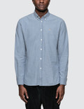 Maison Kitsune Chambray Fox Head Embroidery Classic Shirt Picture