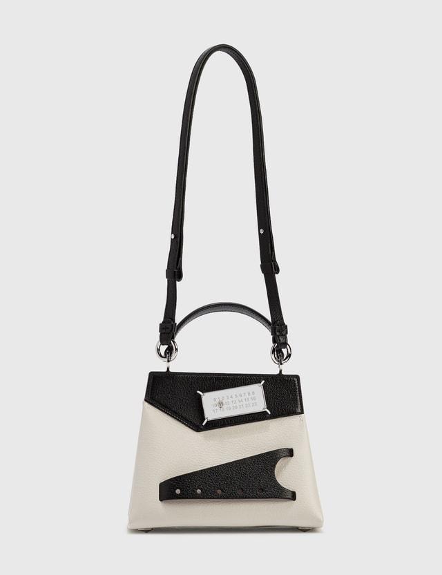 Maison Margiela Snatched Small Top Handle Bag Black/greige Women