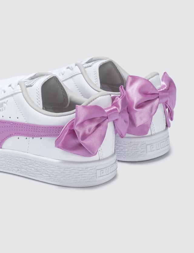 Puma Basket Bow Patent AC Pre-School Puma White/orchid Girls