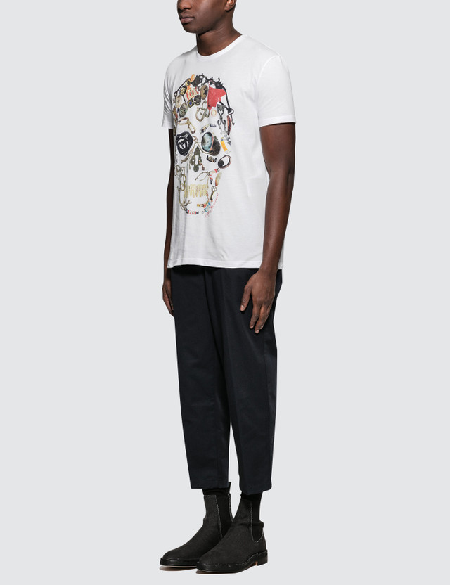 Alexander McQueen S/S T-Shirt with Big Skull Print