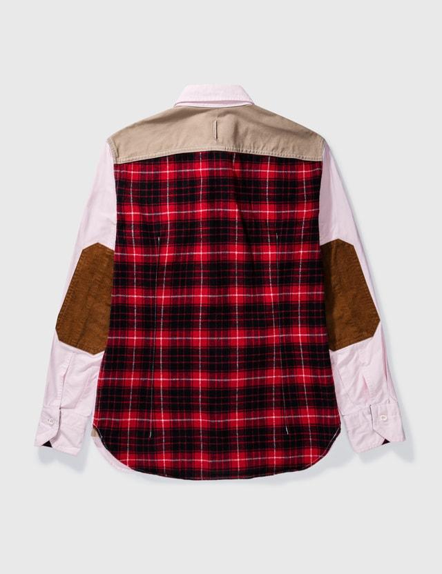 Junya Watanabe Junya Watanabe Eyes Patch Check Shirt Pink Archives