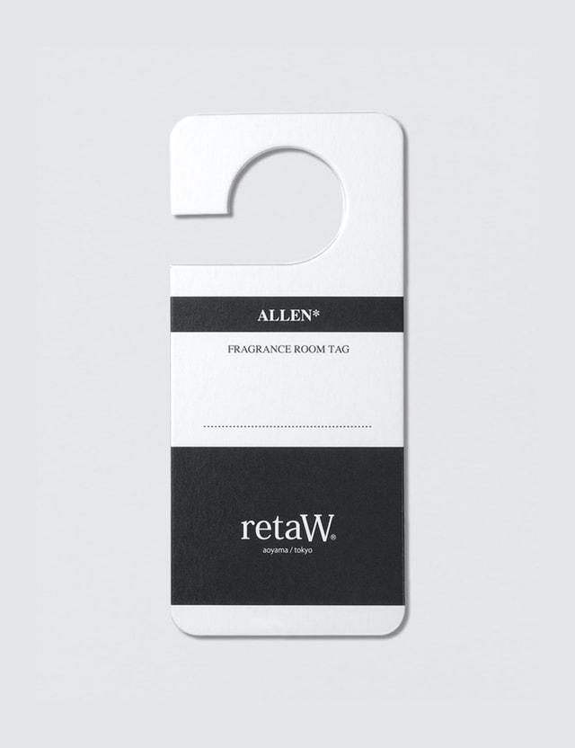 Retaw ALLEN* Fragrance Room Tag