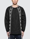 White Mountaineering Primaloft Quilted Laces Up Sweater Picutre