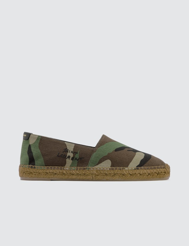 Saint Laurent Saint Laurent Embroidered Camo Espadrilles