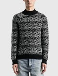 Saint Laurent Wool Spider-Web Jacquard Sweater 사진