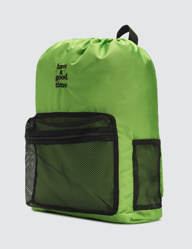 Have A Good Time Logo Day Pack Green Men