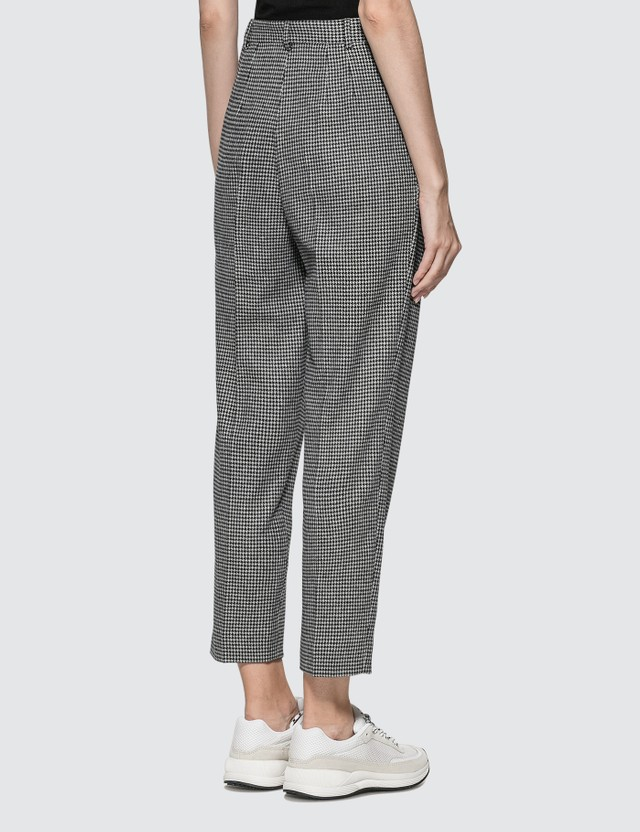 A.P.C. Houndstooth Pants Lza Faux Noir Women