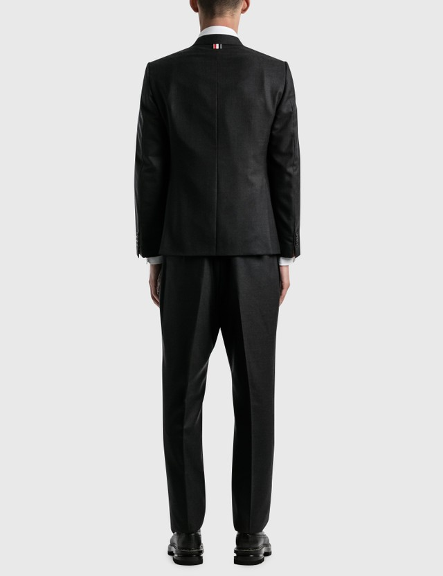 Thom Browne Super 120s Wool Twill Classic Suit And Tie Charcoal Men
