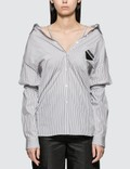 Prada Striped Cotton Poplin Shirt