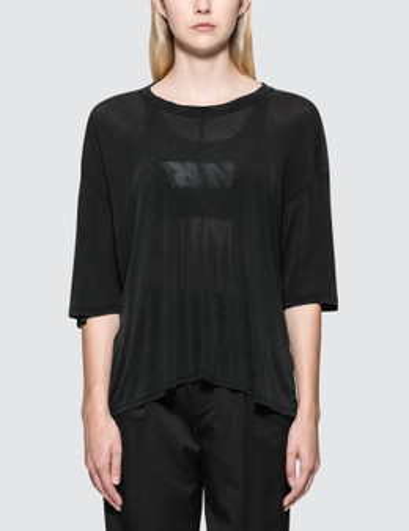 UNRAVEL PROJECT   Unravel Project Lines Reverse V Cut T-Shirt   Goxip