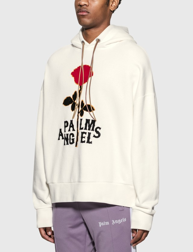 Palm Angels Red Rose Hoodie