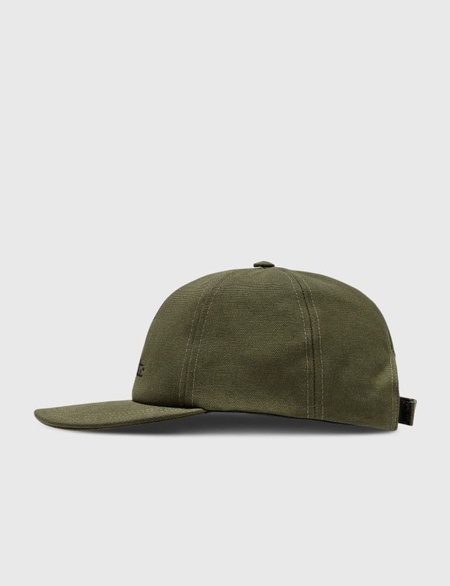 Off-White Logo Canvas Baseball Cap Military Black Women