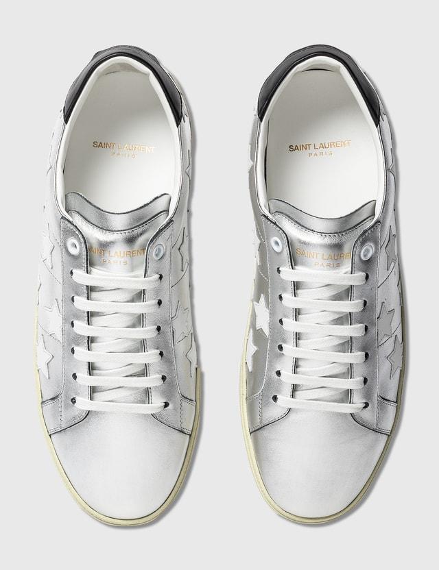 Saint Laurent Court Classic SL/06 Metallic California Sneaker Arg+nr/bl Opt/nero Men