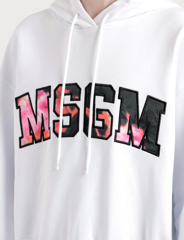 MSGM College Logo Print Hoodie
