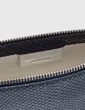BY FAR Rachel Deep Blue Snake Print Leather Bag