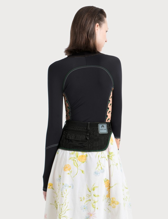 Marine Serre Top With Contrast Side
