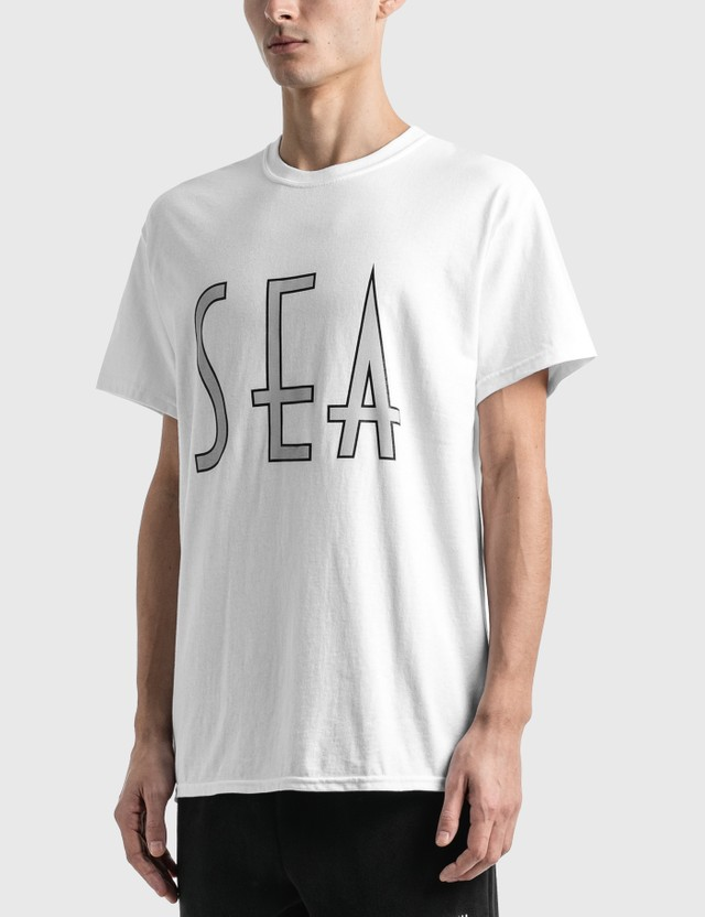 Wind And Sea Sea (Wavy) T-Shirt White Men