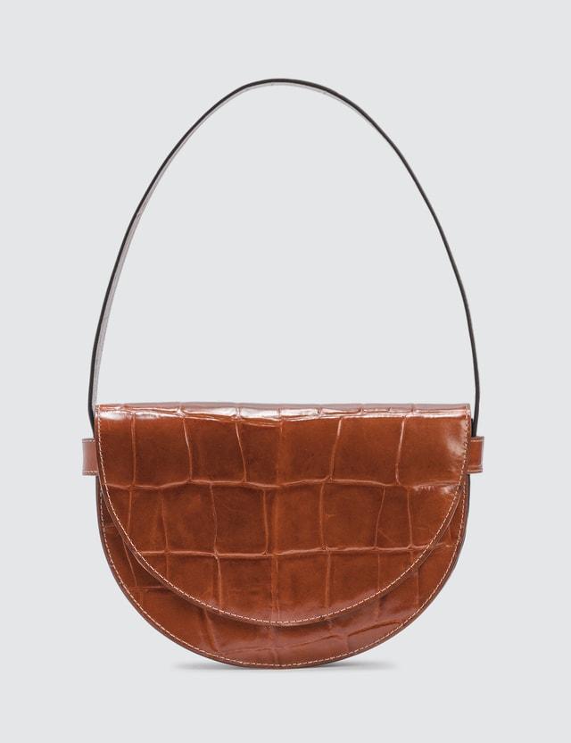 Staud Amal Croc Embossed Bag