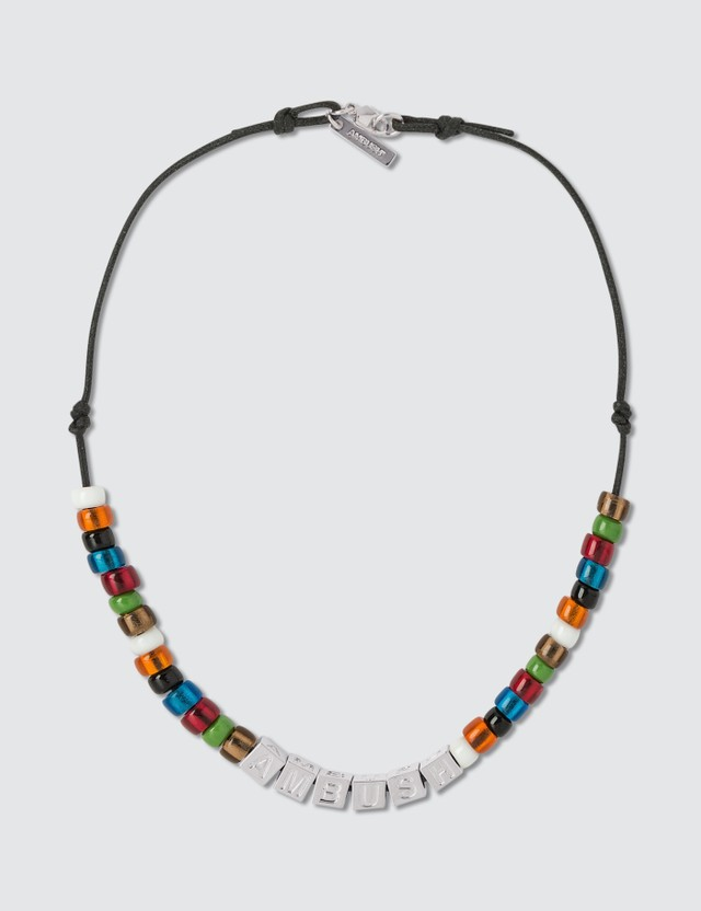 Ambush Letter Block and Beads Necklace