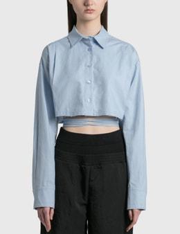 We11done Linen Crop Shirt