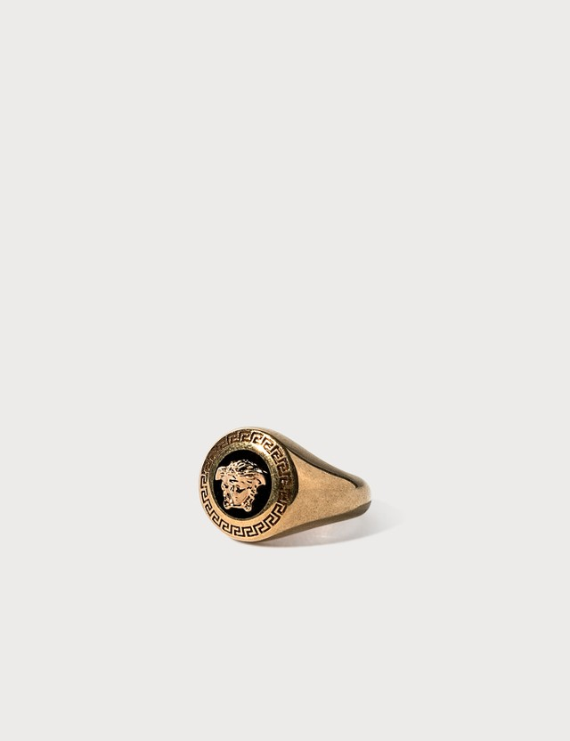 Versace Enamel Medusa Medallion Ring