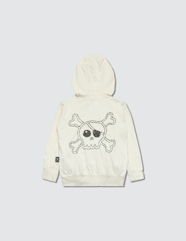 NUNUNU Embroidered Skull Hoodie Jacket