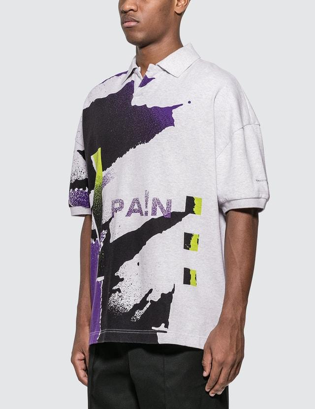 Alexander Wang Oversize Printed Jersey Polo Multicolor Men