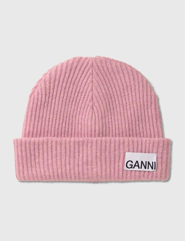 Ganni Recycled Wool Knit Beanie