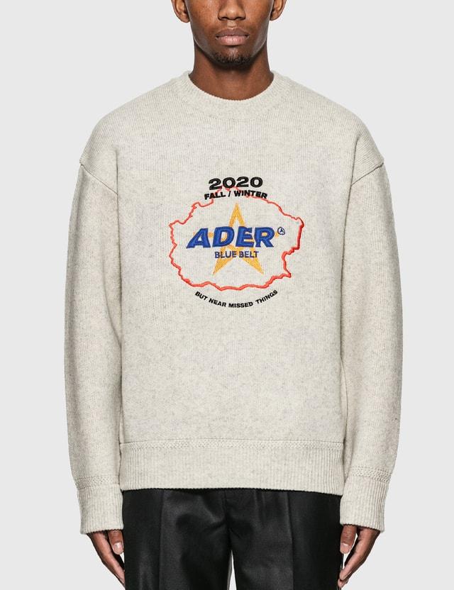 Ader Error Applique Knitting Pullover
