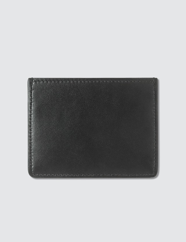 Maison Kitsune Tricolor Fox Leather Card Holder