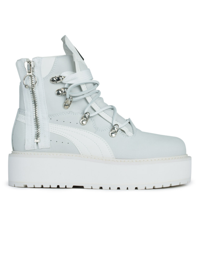 premium selection 305b4 1291f FENTY by Rihanna SB White Boots