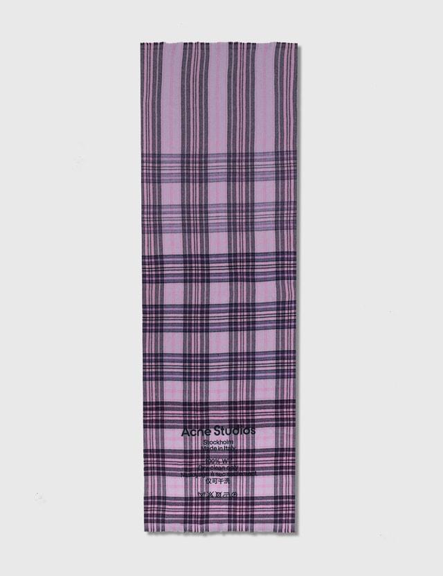 Acne Studios Cassiar Tartan Scarf Lilac/purple Women